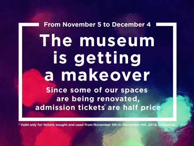 Half price on admission tickets from November 5 to December 4